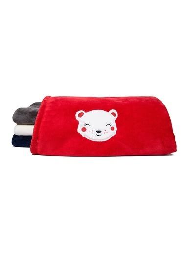 Mollia Soft Touch Aplikeli Bebek Battaniye Kırmızı
